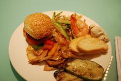 Grand Hyatt Amman - Dinner in the Grand Club (jrozwado) Tags: food dinner bread hotel asia burger amman shrimp jordan noodles slider hyatt zucchini الأردنّ عمّان