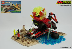 03_Atacked (LegoMathijs) Tags: bridge set river amazon crossing lego crystal space contest mining container planet scifi outback creature magnet miners moc drone 6490 lowlug mtron legomathijs