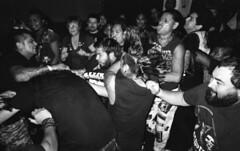 (David Chee) Tags: ricoh gr1v gr1 kodak trix 400 hc110 newyork nyc brooklyn east williamsburg the acheron anchored inn latinx latino punk fest 2015 mosh pit mohawk verminoze live music shows film analog blackandwhite bw