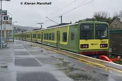 8627+8628 at Bray, 5/12/15 (hurricanemk1c) Tags: irish train rail railway trains railways dart bray irishrail 2015 iarnród éireann 8627 iarnródéireann tokyucarcorp class8521