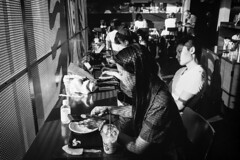 Harajuku. (Davide Filippini ) Tags: light people blackandwhite bw texture film monochrome japan tokyo trix 400tx harajuku     leicam6          ultron28 davidefilippini  m6 x   28