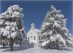 Forest Chapel (Explored) (Runemaker) Tags: chapel church pinevalley utah forest woods trees pine snow winter cold christmas