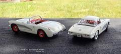 1957 & 1961 Chevrolet Corvette Roadsters (JCarnutz) Tags: 124scale diecast danburymint 1957 1962 chevrolet corvette