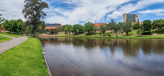 Adelaide Riverfront (Anthony's Olympus Adventures) Tags: adelaide adelaidecbd southaustralia australia sa city cityscape streetscape panorama rivertorrens riverfront water sky stunning wow beautiful amazing nice afternoon weather clouds olympusem10 raw panoramic cityview citycenter river waterway publicspace downtown citycentre adl urban adelaideuniversity green