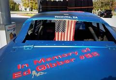 #TheFlyinHawaiian (Σταύρος) Tags: stockcar 03 car flyinmo vacaville bluecar auto gasstation dented nowindows dents backwindow edgibber inmemoryof 88