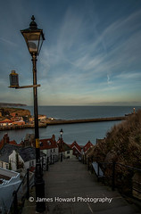 Iconic 199 Steps (jameshowardphotography) Tags: whitby water white blue lamp steps north northyorkshire northeast northern nikon day houses old town