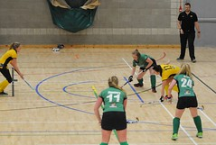 Catherine in control at the back for Greenfields indoor team (Greenfields Hockey Club) Tags: hockey connachthockey greenfieldshockeyclub indoorhockey leinster railwayunionhockey pembroke irishhockey greenfields greenfieldshockey