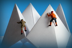 Just White Paper - Macro Mondays (Crisp-13) Tags: justwhitepaper macromondays just white paper macro mondays ho figure mountain climber mountaineer origami