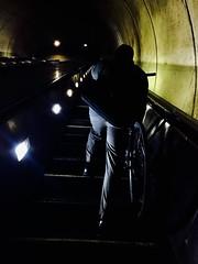 Voyage until the end of the night (The Big Jiggety) Tags: louisferdinandcéline literary metro metpo escalator bike bicycle bicyclette bicicleta vélo dark noir obscur oscuro dunkel