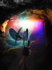 Fairy mining (andreyalpha) Tags: retouch retouching color colorful fairy girl girlish creative creature ladies lady lantern gold mining story experiment rainbow