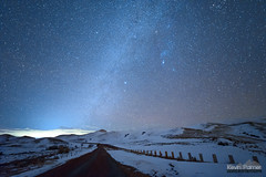 Road to Fetterman (kevin-palmer) Tags: fetterman monument battlefield story wyoming january winter night sky stars starry dark astronomy astrophotography snow cold road nikond750 irix15mmf24 lodgetrailridge blue clear cloud