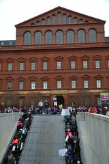 Exit at Building Museum (railsnroots) Tags: demonstrations first amendment womens march protest signs