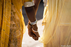 Hands in hands (karmajigme) Tags: hands women girls human travel rajasthan india streetphotography color nikon