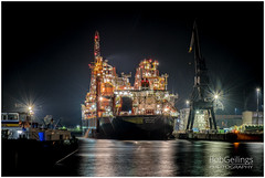 LightShip (BobGeilings.nl) Tags: ship lights night oiltanker botlek rotterdam netherlands harbour