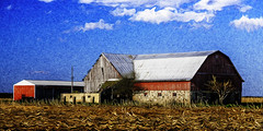 A Barn in Michigan 2016 (hz536n/George Thomas) Tags: 2016 canon5d ef24105mmf4lisusm may michigan spring barn copyright cs6 nik sky upnorth pixelbender adobelabs