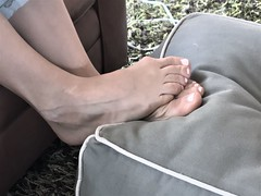 Feet on ottoman (Ped-antics) Tags: sexy feet female footfetish femalefeet toes ankles arches amateur