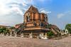Wat Chedi Luang at Chiangmai, Thailand (Anoop Negi) Tags: wat chedi luang thailand chiangmai monument buddhist buddhism stupa temple ruins unesco restoration elephants nagas brick travels travel photography anoop negi ezee123 photo tourism