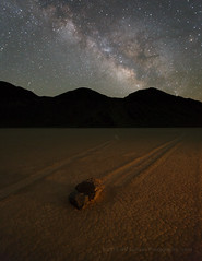 Milky Way Over The Racetrack (Jeffrey Sullivan) Tags: death valley national park theracetrack racetrack playa milky way joshua trees night landscape nature travel timelapse photography teakettle junction california united states usa canon 5d mark iii photo copyright 2015 jeff sullivan april