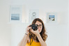 Hi there! (neus_oliver) Tags: girl camera selfie photographer photo portrait selfportrait yellow indoors decoration me white home room art click capture