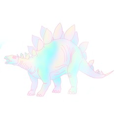 Stegombre (kalisaurart) Tags: magical rainbow dinosaur ombre stegosaurus