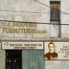 o.j. hooter (simple pleasure) Tags: brick window furniture neworleans powerlines plywood f717 longweekend constancestreet