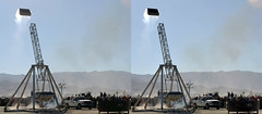 Burning Man 2015- Trebuchet -#1 -3D Cross-View (3dstereo) Tags: man eye photography stereoscopic 3d crosseyed view cross burning stereo stereoview trebuchet 2015