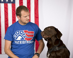 Do we really have to look at the camera? Jeremy & Papi (Ollie girl) Tags: love amazing labrador friendship chocolate grace american servicedog recovery secondchances patriotpawsservicedogs
