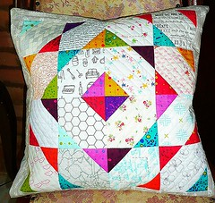 Entry #11 - Swap #11 theme: HST (XFactorAdmin) Tags: modern square triangle pillow swap half quilted cushion hst xfactor