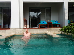 Kees in jacuzzi