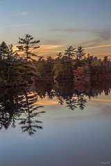 Autumn sunset (Vanili11) Tags: autumn lake canada fall bedford october novascotia ns papermilllake agcgwinner agcgmegachallengewinner october2015 52weekofpix2015
