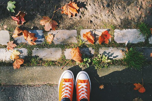 Follow the leafy brick road. Featuring Pumpkin Spice Converse 🍁