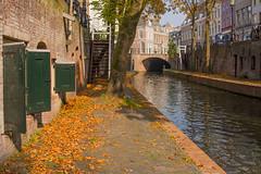 Autumn in Utrecht (Lie's Foto Studio 2.0) Tags: netherlands utrecht nederland canals oudegracht autumnleafcolours