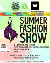 The TableView #LionsClub and Woolworth's Bayside have partnered in an exciting project: a fashion show in aid of a school bus for the West Riding Primary School.