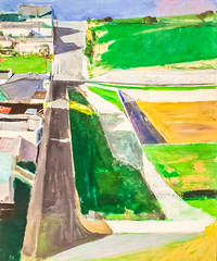 He's Coming Back (Thomas Hawk) Tags: sanfrancisco california museum painting sfmoma sanfranciscomuseumofmodernart richarddiebenkorn landscape1 cityscape1