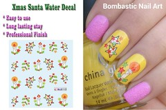BLE113 NAIL (Jasmeet.k) Tags: santa christmas xmas tree art water nail slide musical decal transfer nailart bombastic