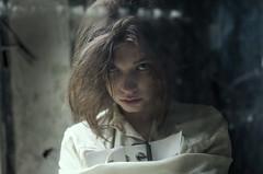 Lisa3 (killmealli) Tags: portrait glass girl beauty daylight emotion emotional melancholy straitjacket nuthouse sadnes feelins
