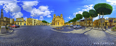 Knisja ta' Kbir Qaddis ueppi (church of great saint Joseph) (TJ.Photography) Tags: old travel trees sky panorama church architecture clouds buildings joseph catholic faith malta christian christianity piazza traveling maltese romanesque gozo qala pjazza