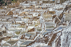 Salt ponds at Maras, Peru (Daniel Schwabe) Tags: travel mountain peru pond geometry salt maze sacredvalley urubamba maras incas salinera