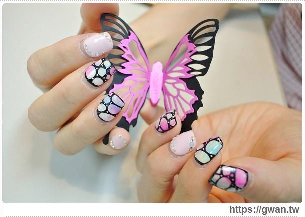 [台北美甲●東區] A-mo日式指甲沙龍 — ☆璀璨凝膠☆每個女生都要做一次的超氣質蝴蝶暈染♀