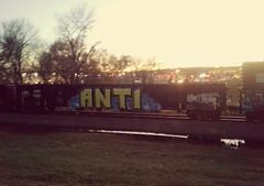 ANTI [COER 800393] (Twang Your Head) Tags: train graffiti gondola anti ant1