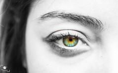 Eye (OuSsama JB) Tags: white black green eye girl algeria jijel