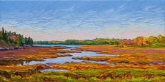 Marsh Edge (RobM333) Tags: autumn ontario canada art fall nature water grass forest painting landscape bright cattails oil impressionism expressive marsh wilderness marshland kenora impressionistic bold textured paletteknife impasto canadianshield shieldcountry