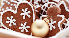 gingerbreads (xc.ricardo) Tags: christmas food holiday dessert baking cookie heart symbol traditional decoration gingerbread poland gourmet homemade ornament snack christmasdecoration foodanddrink christmasball sweetfood
