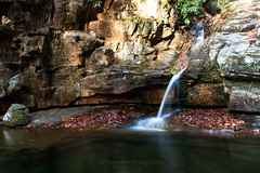 The Blue Hole in November #2 (jeffseverson) Tags: waterfall longexposure autumn water nature rocks fall stream waterscape creek bluehole tennessee cartercounty