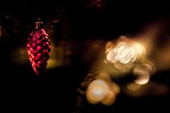MERRY CHRISTMAS  !! (michaelinvan) Tags: bokeh dof canon primelens 5d2 135mm f2 christmas night lowkey dimlight closeup decoration red golden christmastree light merrychristmas availablelight 2016
