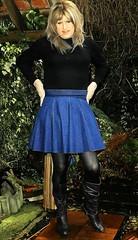 Afternoon Tidy Up (Amber :-)) Tags: denim mini skirt tgirl transvestite crossdressing