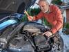 Car Repairs (D-W-J-S) Tags: strobist car audi hammer repair fisheye tokina 1017mm bonnet hood