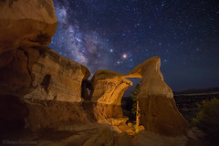 """Mars over Metate Arch (IronRodArt - Royce Bair (""""Star Shooter"""")) Tags: mars milkyway nightsky nightphotography nightscape nightscapes lowlevellighting metatearch escalante utah gsenm grandstaircase grandstaircaseescalante grandstaircaseescalantenationalmonument"""