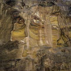 Image on a Canyon Wall (Greatest Paka Photography) Tags: petra ancient rock gorge geology narrow passage jordan kingdom natural canyon face color formation siq texture pattern