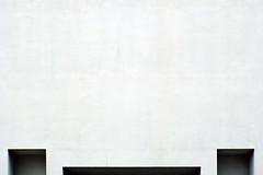 (Delay Tactics) Tags: london minimal wall shadows three eyes recesses alcoves crack